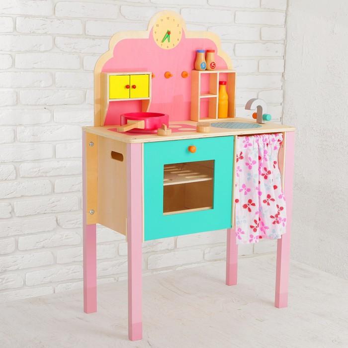 """Игровой набор """"Моя первая кухня"""", деревянная посуда в наборе"""