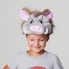 Карнавальная шапка«Кабанчик серый»обхват головы 54-57см
