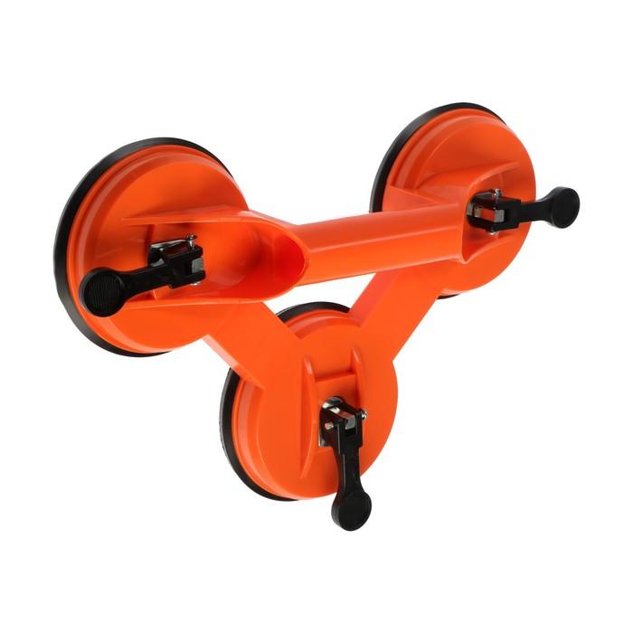 """Стеклодомкрат тройной TUNDRA basic, пластиковый, 5"""" (125 мм), до 80 кг"""