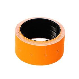 Набор из 10 роликов, в 1 ролике 200 штук, ценники на ленте для этикет-пистолета, 12 х 21 мм, оранжевые - фото 7283824
