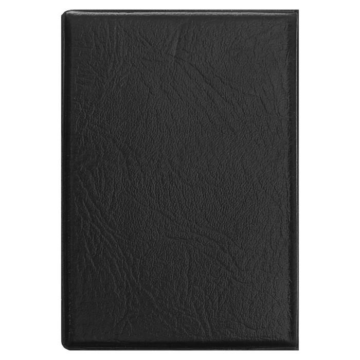 Записная книжка обложка ПВХ А7 50л кл 72*103мм черная Перо