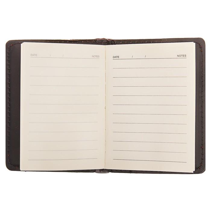 Записная книжка обложка ПВХ А7 46л кл 80*120мм коричневая