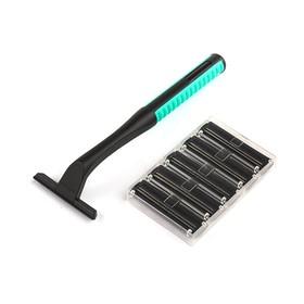 Набор станок для бритья и 5 сменных кассет LuazON, с 2 лезвиями