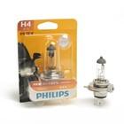 Автолампа PHILIPS Vision +30%, H4 (P43t-38), 12 В, 60/55 Вт. блистер 12342 PR B1