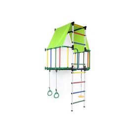 ДСК «Индиго L плюс», 930 × 1150 × 2260 мм, цвет зелёный/белый/радуга