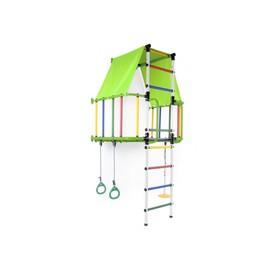 ДСК «Индиго L плюс», 930 × 1150 × 2260 мм, цвет салатовый/белый/радуга