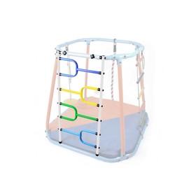 Модуль металлический лаз, цвет белый/радуга
