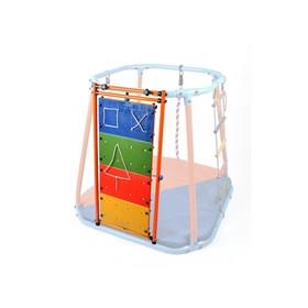 Модуль развивающий стенд, цвет оранжевый/радуга