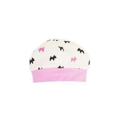 Шапочка (чепчик) детская, размер 36 см, цвет розовый 8513