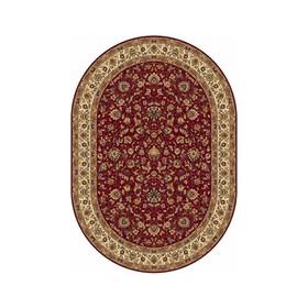 Овальный ковёр Buhara 5471, 100 х 300 см, цвет red