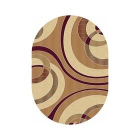 Овальный ковёр Buhara d151, 60 х 100 см, цвет beige