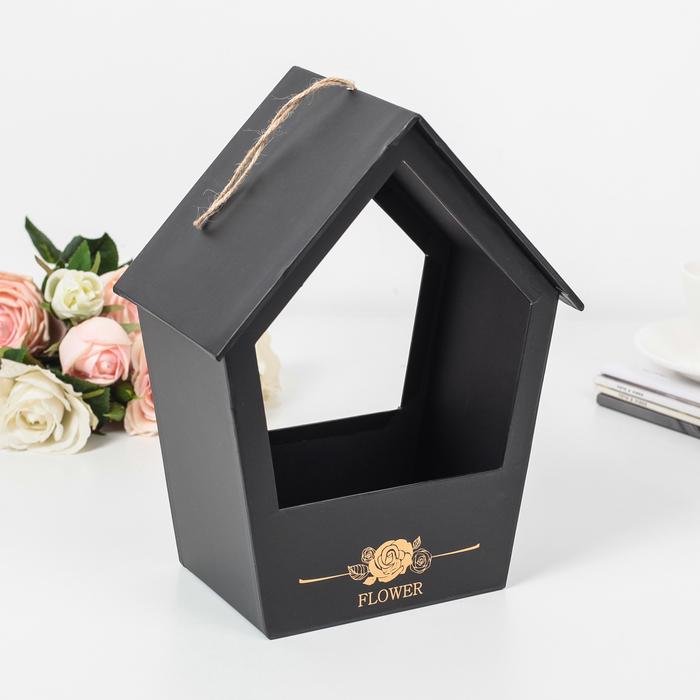 Коробка для цветов 21 х 27 х 13 см