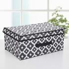 Короб для хранения с крышкой «Вензель», 45×30×20 см, цвет чёрно-белый - фото 308331859