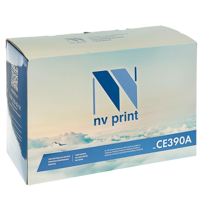 Картридж NV PRINT CE390A для HP LaserJet Enterprise 600 M601/M602/M603/M4555 (10000k),черный