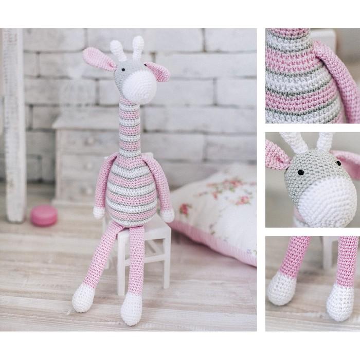 Амигуруми: Мягкая игрушка «Жирафик Мэлани», набор для вязания, 10 × 4 × 14 см
