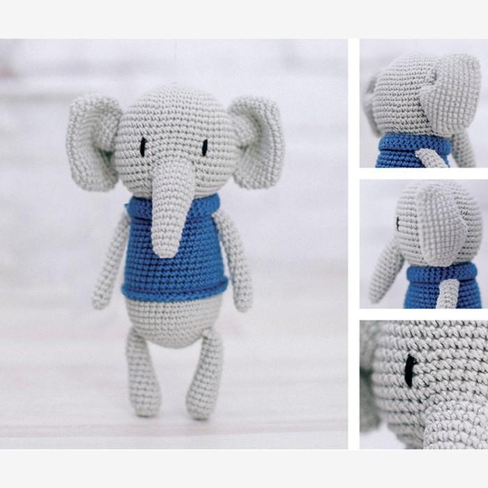Амигуруми: Мягкая игрушка «Слоненок Мо», набор для вязания, 10 × 4 × 14 см