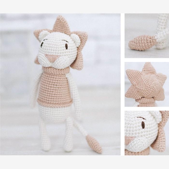Амигуруми: Мягкая игрушка «Львёнок Чарли», набор для вязания, 10 × 4 × 14 см