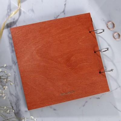"""Книга пожеланий в деревянной обложке """"Дерево"""""""