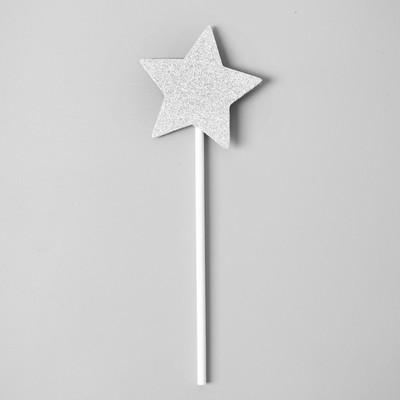 Топпер «Звёздочка», набор 6 шт., цвет серебряный