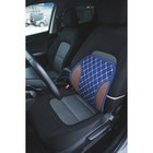 Ортопедическая накидка на сиденье усиленная, синяя с белой строчкой, 38 x 39 см