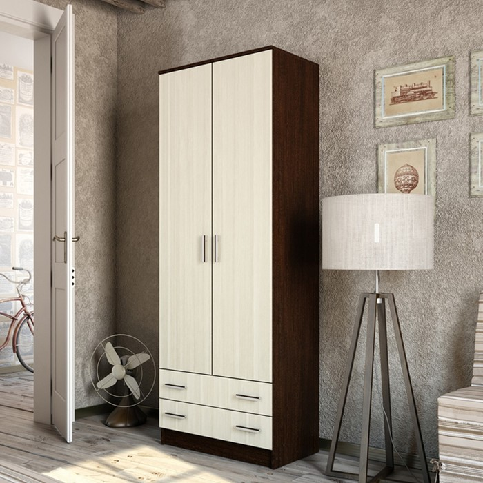 Шкаф 2-ух дверный Дуэт 800х480х2200 Венге/Лоредо