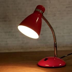 "Настольная лампа ""Элегия"" 1x60W E27 розовая 14,5x14,5x41см"