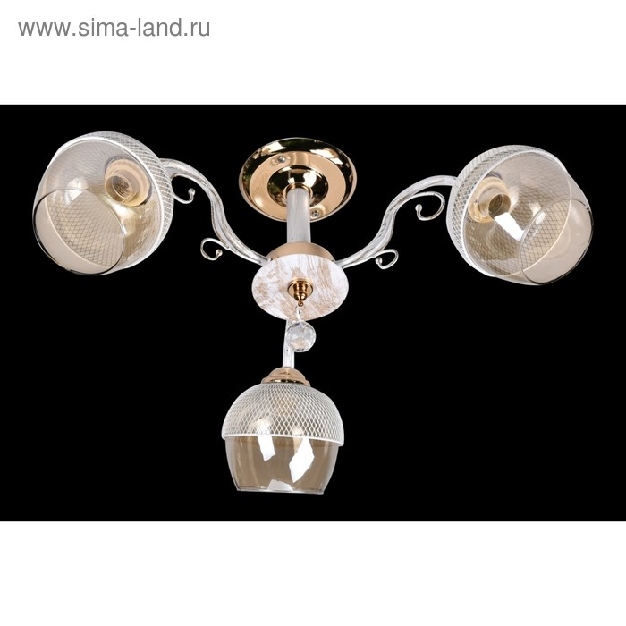 """Люстра """"Джоанна"""" 3xE27 60Вт золото-белый 60х60х26см."""