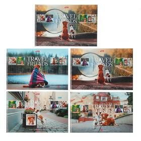 Альбом для рисования А4, 48 листов на гребне «Путешествие друзей. Выпуск №1», МИКС