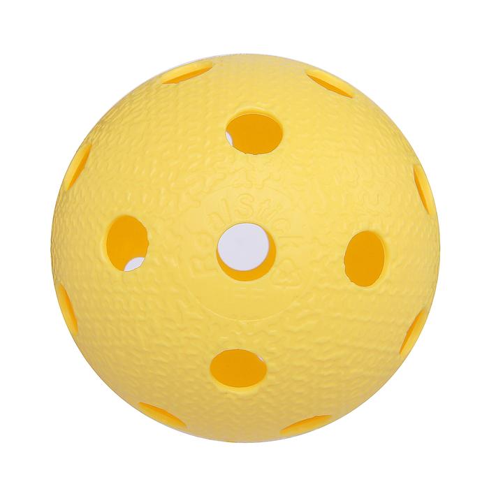 Мяч для флорбола MR-MF-Va, пластик, IFF Approved, цвет жёлтый