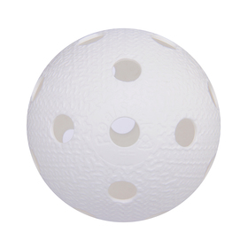 Мяч для флорбола MR-MF-Wh, пластик, IFF Approved, цвет белый Ош