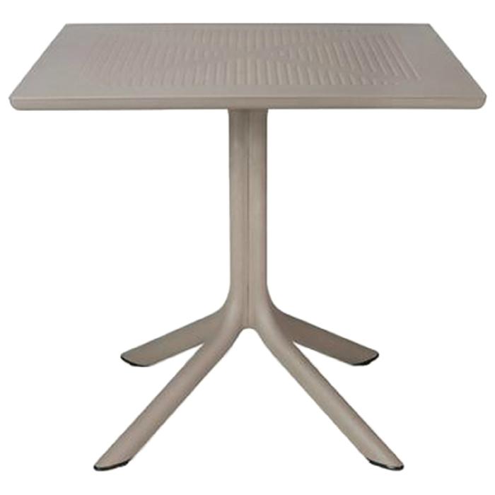 Стол квадратный Clip, столешница 80 х 80 см, высота 75 см, цвет бежевый (тортора)