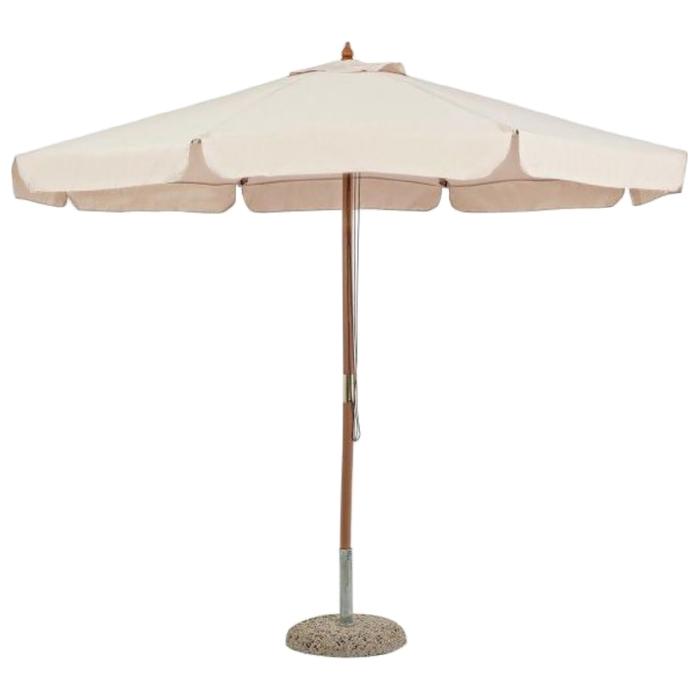 """Пляжный зонт деревянный  """"РИМИНИ"""", 2.5м, цвет бежевый 0795101"""