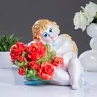 Статуэтка «Ангел Валентин с розами», 26 х 20 х30 см.