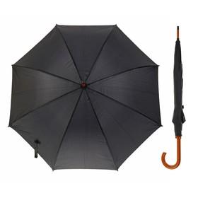 Зонт-трость, r=50см, цвет чёрный Ош