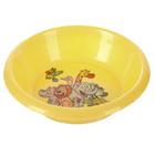 Тарелка детская, диаметр 15 см, высота 3 см, пластиковая с рисунком, цвет жёлтый