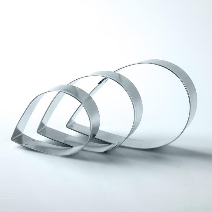"""Набор форм для вырезания из жести """"Капля"""", 7 х 5 х 2 см, 3 шт."""