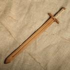 """Сувенир деревянный """"Меч воина"""", массив бука, 60 см"""