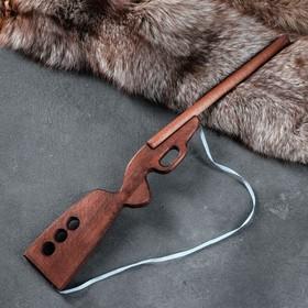 """Сувенир деревянный """"Ружьё охотничье"""", чёрное, 60 см, массив бука"""