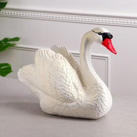 """Копилка """"Лебедь"""", белый цвет, 29 см,"""