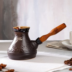 "{{photo.Alt || photo.Description || 'Турка для кофе ""Лотос"", керамика, 0.3 л'}}"