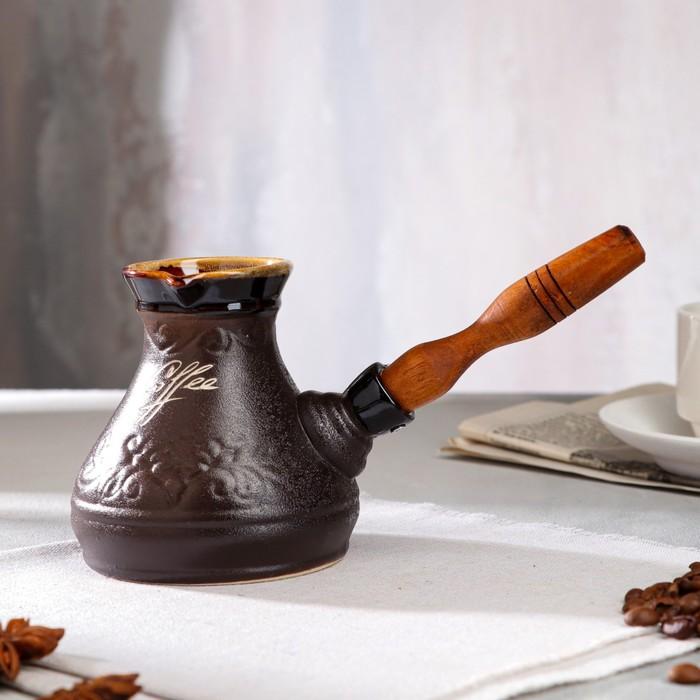 """Турка для кофе """"Лотос"""", керамика, 0.3 л"""