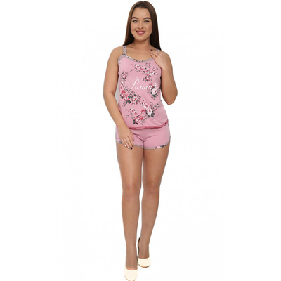 Комплект женский (майка, шорты) М152 цвет МИКС, р-р 46