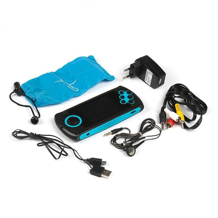 """Игровая приставка SEGA Genesis Gopher Wireless LCD 2.8"""", ИК-порт, 20 игр, синяя"""