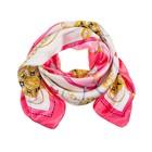 Платок женский, размер 90х90 см, цвет розовый K07P141212