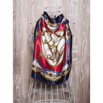 Платок женский, размер 50х50 см, цвет красный K02P1510