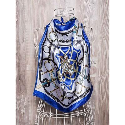 Платок женский, размер 50х50 см, цвет синий  K02P1516