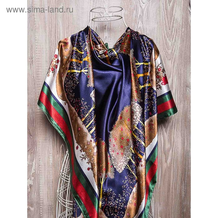 Платок женский, размер 90х90 см, цвет коричневый K02P2072
