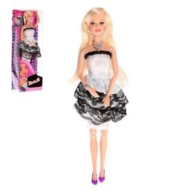 Кукла модель шарнирная «Певица» в платье с аксессуарами, МИКС