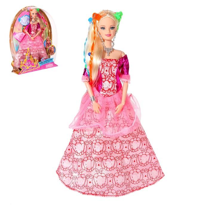 Кукла модель шарнирная «Принцесса» в бальном платье с аксессуарами