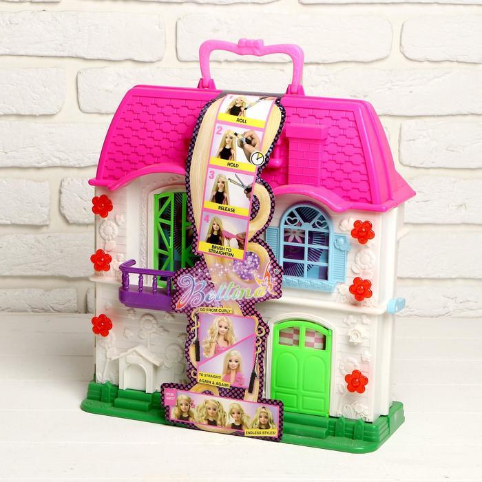 """Дом для кукол """"Уют"""" с куклой шарнирной и аксессуарами для создания причёски"""